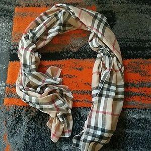 Inspired checked nova scarf